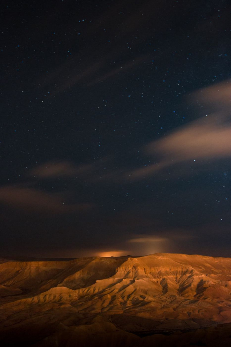 Night sky over the desert